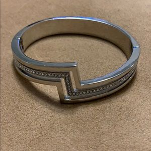 Silver bracelet. Cool and classy.
